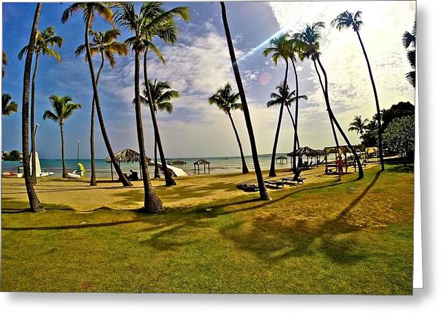 Ocean Photography Greeting Cards - Paradise in Puerto Rico Greeting Card by George Ohan