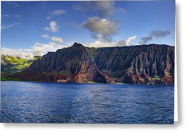 Panoramic Ocean Greeting Cards - Paradise is an Island in the Pacific Greeting Card by Casey Marvins