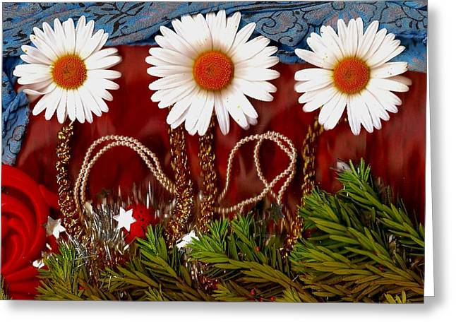 Plastic Mixed Media Greeting Cards - Paradise  Peace Greeting Card by Pepita Selles