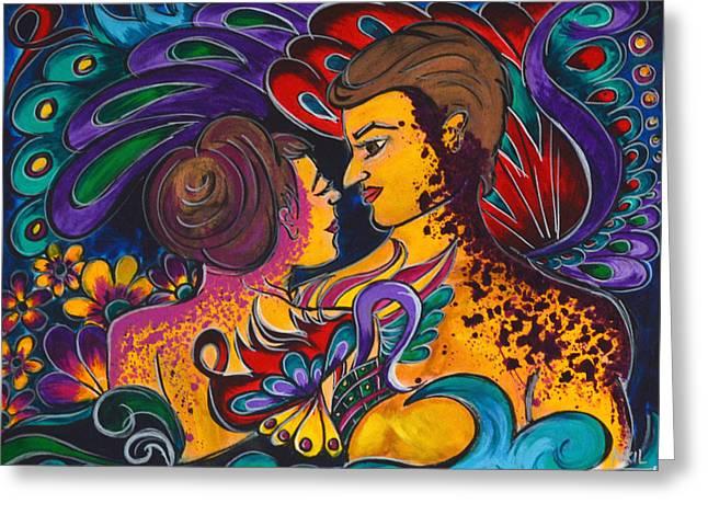 Lounge Paintings Greeting Cards - Paraiso Greeting Card by Kokil Sharma