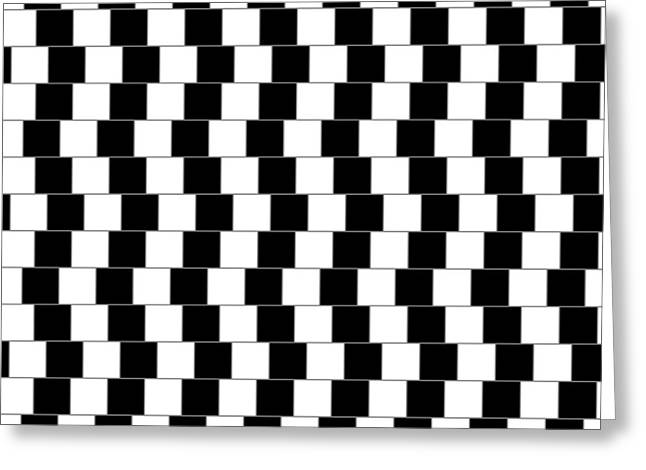 White Digital Greeting Cards - Parallel Lines Greeting Card by Michael Tompsett