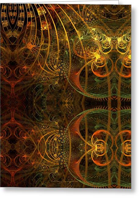 Fractal Art Pastels Greeting Cards - Parallel Visions of Time   Greeting Card by Gayle Odsather