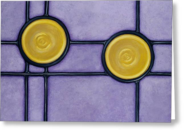 Disk Paintings Greeting Cards - Paramour Greeting Card by Don Mullins