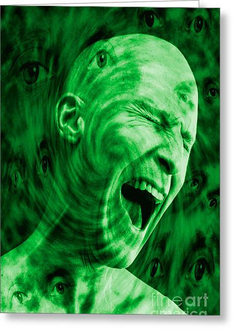Psychiatric Greeting Cards - Paranoid Personality Disorder Greeting Card by George Mattei