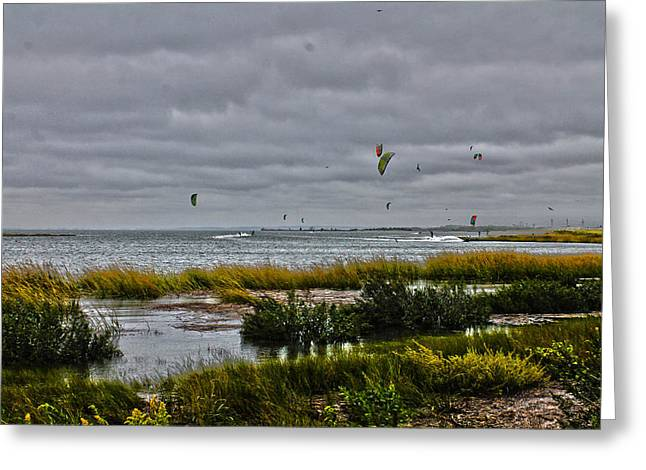 Landscape Framed Prints Greeting Cards - Parasailing Day Greeting Card by Diane Murphy