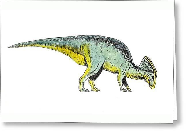 Parasaurolophus Greeting Card by Michael Vigliotti