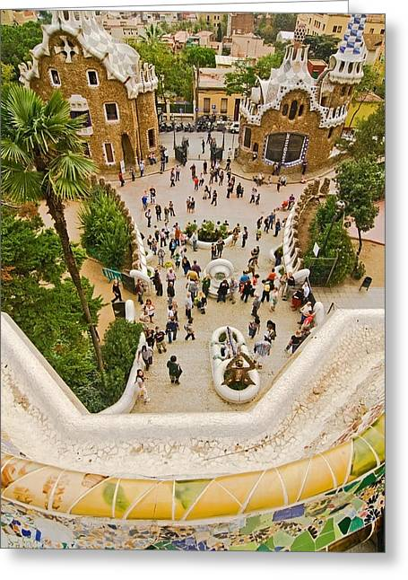 Parc Greeting Cards - Parc Guell in Barcelona Greeting Card by Sven Brogren