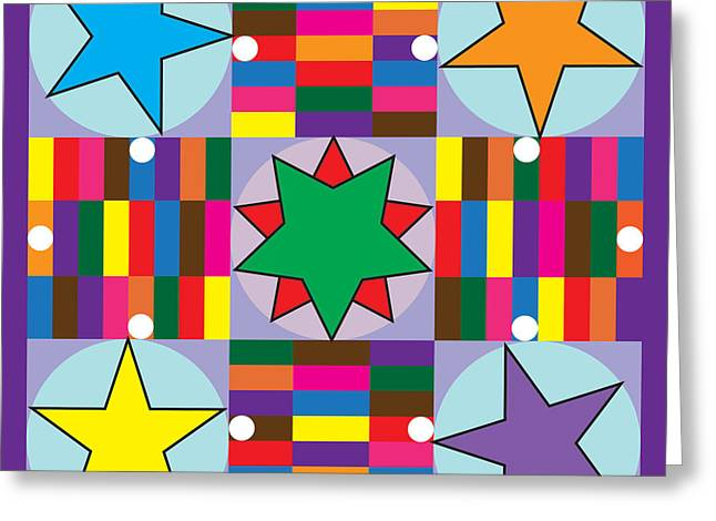 Board Game Greeting Cards - Parcheesi Board Greeting Card by Eric Edelman