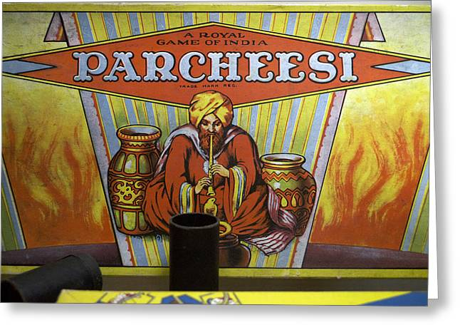 Parcheesi Board Game Greeting Card by Thomas Woolworth