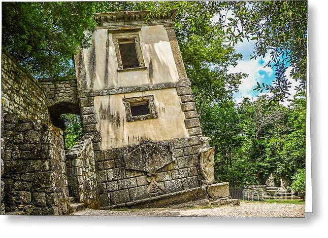 Parco Dei Mostri, Park Of The Monster, In Bomarzo Greeting Card by JR Photography
