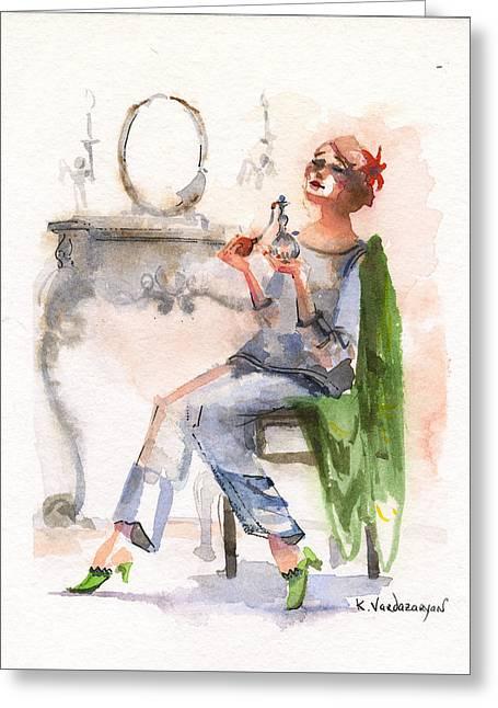 Parfum Greeting Card by Kristina Vardazaryan