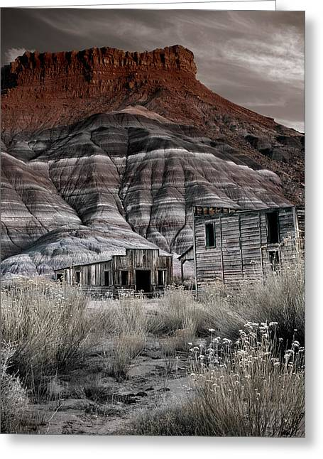 Paria Townsite Greeting Card by Leland D Howard