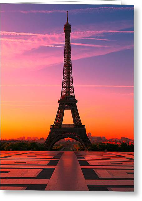 Process Greeting Cards - Paris 15 Greeting Card by Tom Uhlenberg
