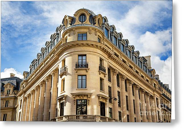 Townhouses Greeting Cards - Paris architecture Greeting Card by Jane Rix