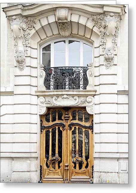 Paris Art Nouveau Door Greeting Card by Ivy Ho