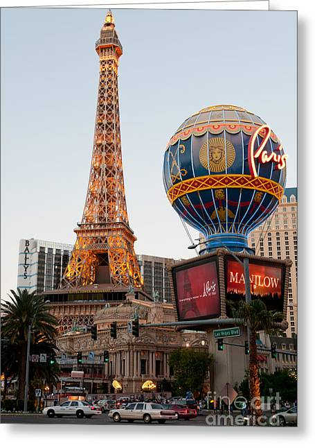 Casino Greeting Cards - Paris at Dusk Greeting Card by Andy Smy