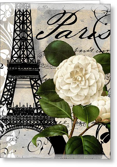 Paris Paintings Greeting Cards - Paris Blanc I Greeting Card by Mindy Sommers