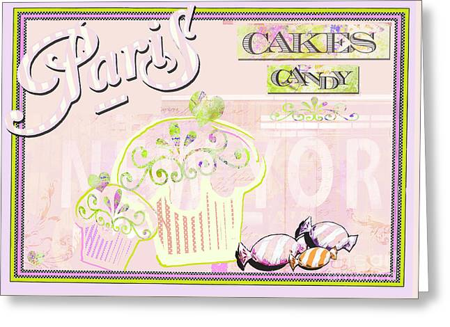 Surtex Licensing Greeting Cards - Paris Candy Shop Greeting Card by Anahi DeCanio - ArtyZen Studios