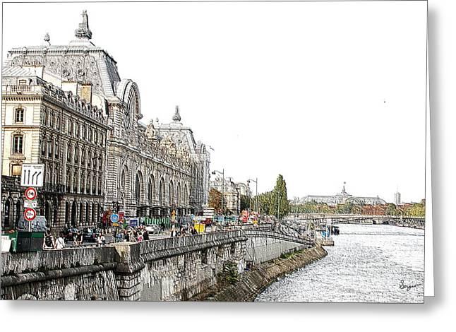 Coffee Drinking Greeting Cards - Paris City Life Greeting Card by Sergio B