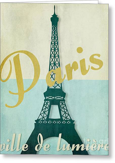 """france Poster"" Greeting Cards - Paris City of Light Greeting Card by Mindy Sommers"