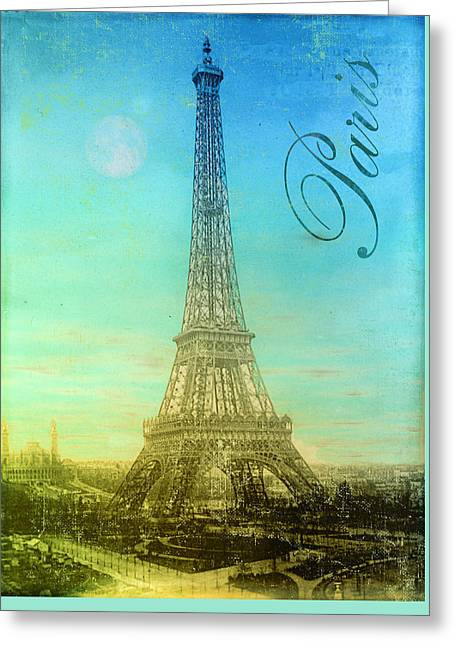 Paris Paintings Greeting Cards - Paris Eiffel Tower Greeting Card by Mindy Sommers
