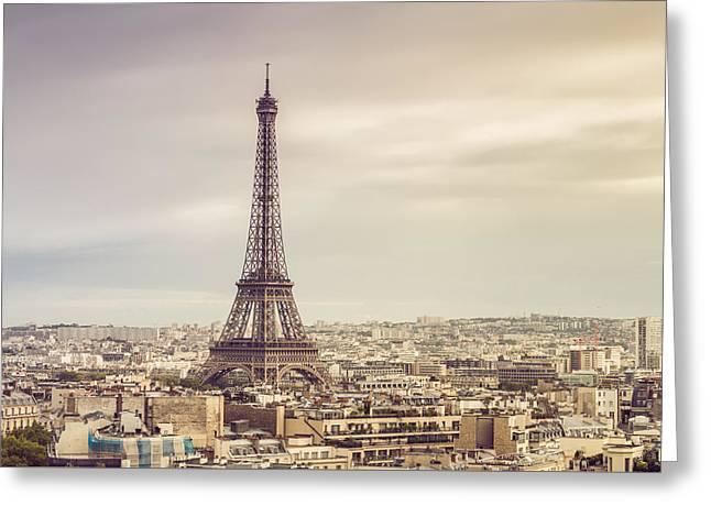Paris Eiffelturm Greeting Card by Davis J Engel