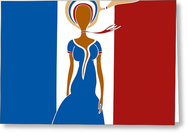 Catwalk Drawings Greeting Cards - Paris Fashion Greeting Card by Frank Tschakert