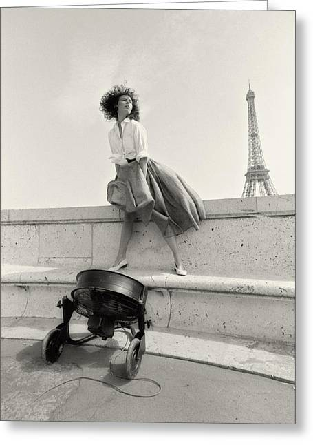 Black Top Greeting Cards - Paris Fashion Session Greeting Card by Philippe Taka
