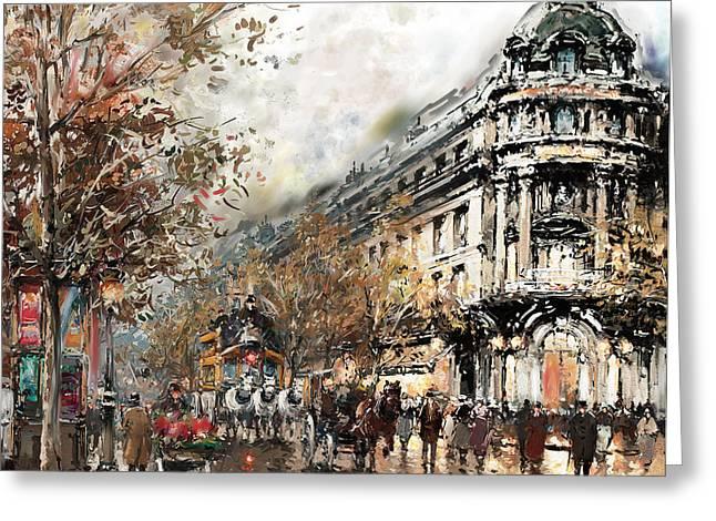 Paris Gaumont Opera 172 1  Greeting Card by Mawra Tahreem