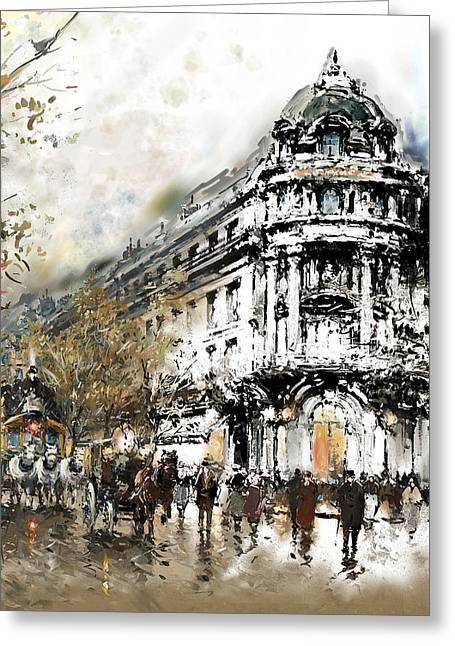 Paris Gaumont Opera 172 4  Greeting Card by Mawra Tahreem