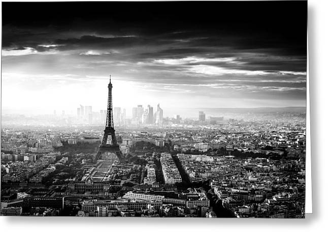 Monochrome Greeting Cards - Paris Greeting Card by Jaco Marx