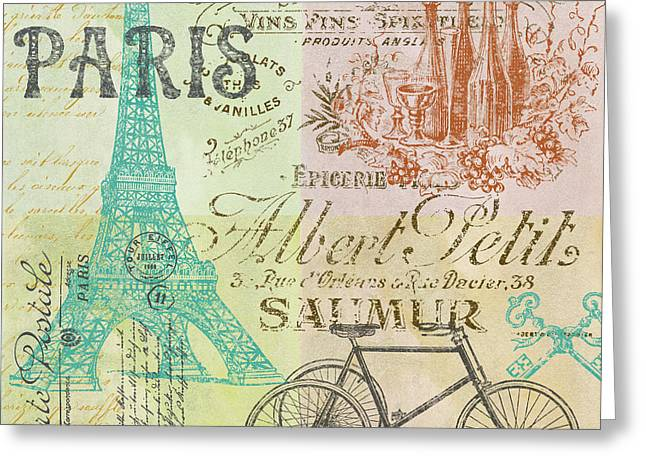 Paris-jp1664-h Greeting Card by Jean Plout