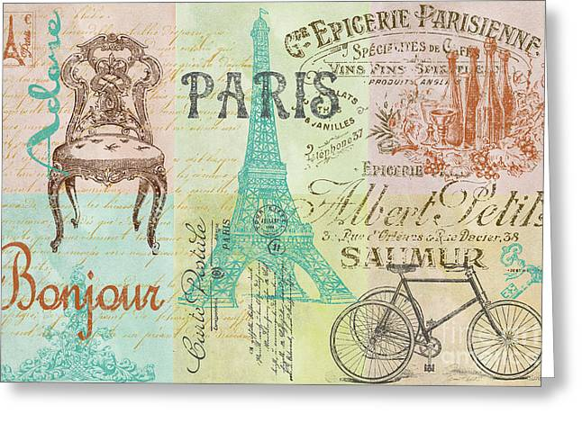Paris-jp1664 Greeting Card by Jean Plout