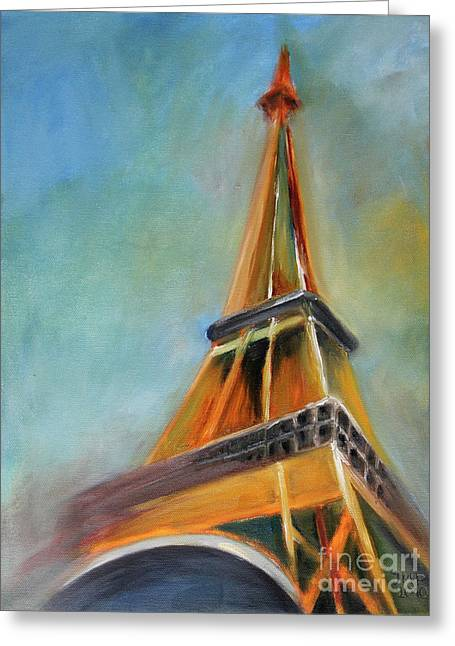 Tower Greeting Cards - Paris Greeting Card by Jutta Maria Pusl