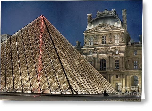 Paris Louvre Greeting Card by Juli Scalzi