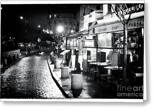 Paris Nights Greeting Card by John Rizzuto