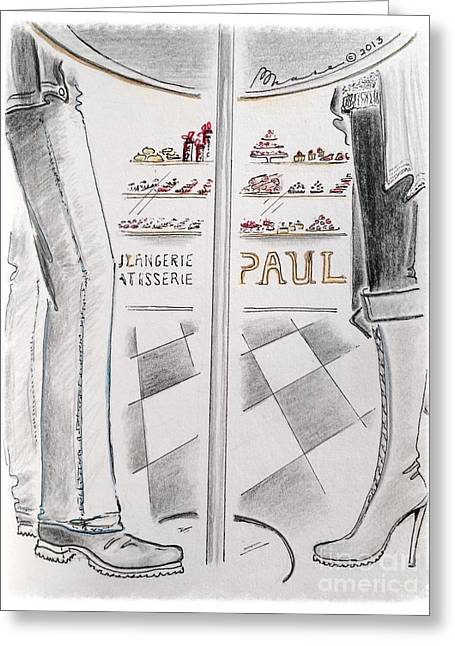 Pause Greeting Cards - Paris Patisserie Greeting Card by Barbara Chase