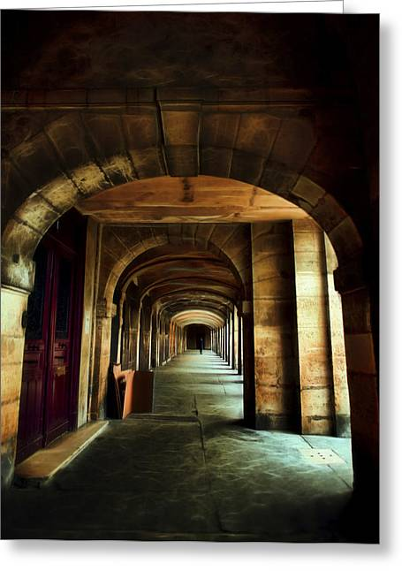 Chateau Greeting Cards - Paris Place Des Vosges Greeting Card by Evie Carrier