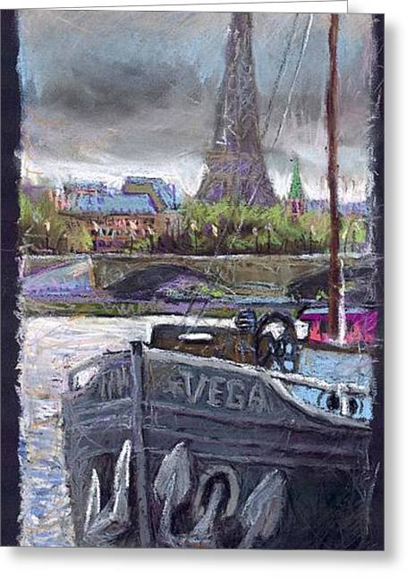 Pastel Greeting Cards - Paris Pont Alexandre III Greeting Card by Yuriy  Shevchuk