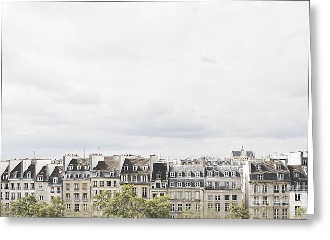 Greeting Cards - Paris rooftops view from Centre Pompidou Greeting Card by Ivy Ho