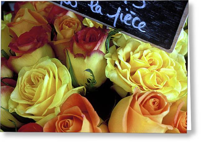 Paris Roses Greeting Card by Kathy Yates