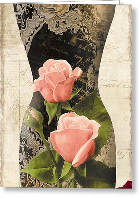 Dress Form Greeting Cards - Paris Seamstress I Greeting Card by Mindy Sommers