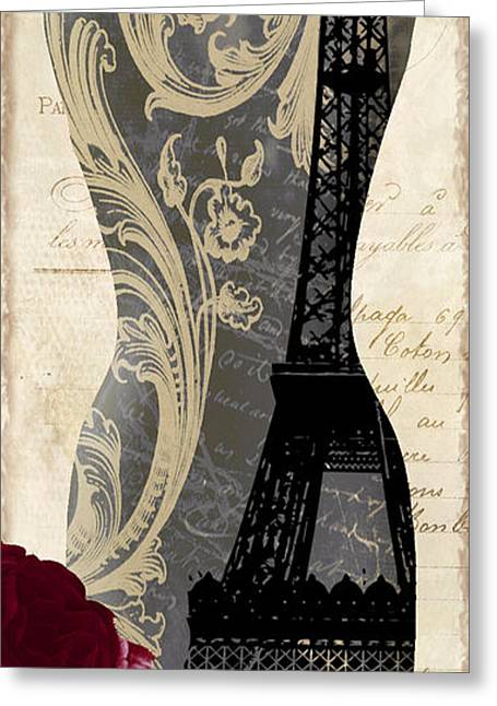 Knitting Greeting Cards - Paris Seamstress II Greeting Card by Mindy Sommers