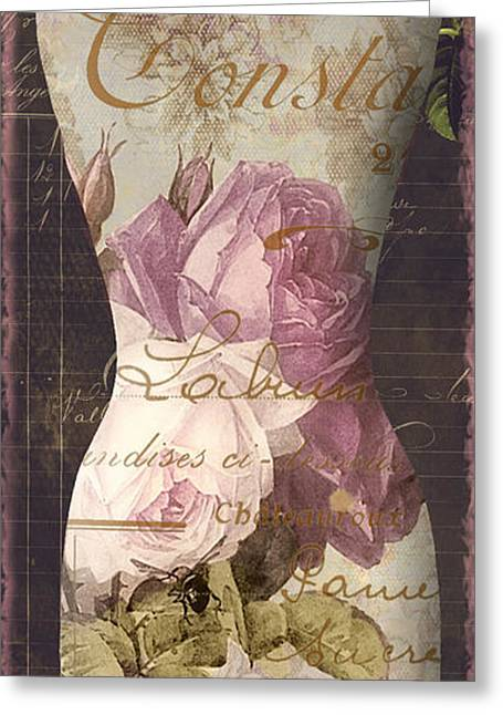 Dress Form Greeting Cards - Paris Seamstress III Greeting Card by Mindy Sommers