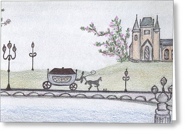 Paris Pastels Greeting Cards - Parisian landscape Greeting Card by Christine Corretti