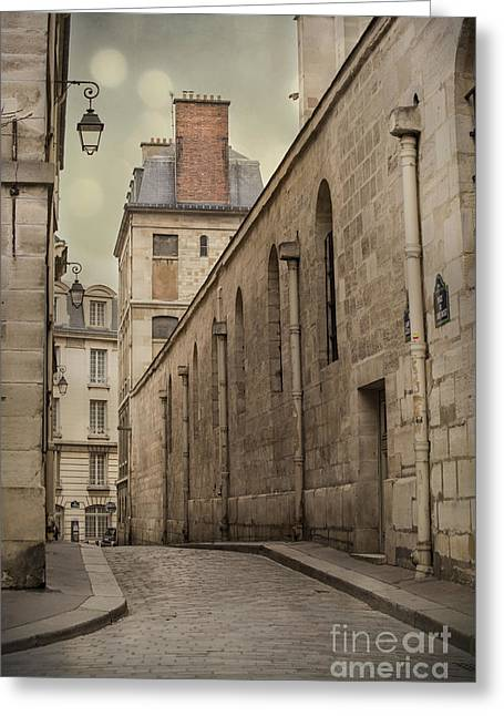 Backstreets Greeting Cards - Parisian Street Greeting Card by Juli Scalzi