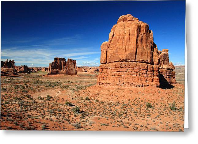 Lanscape Greeting Cards - Park Avenue in Arches National  Park Greeting Card by Pierre Leclerc Photography
