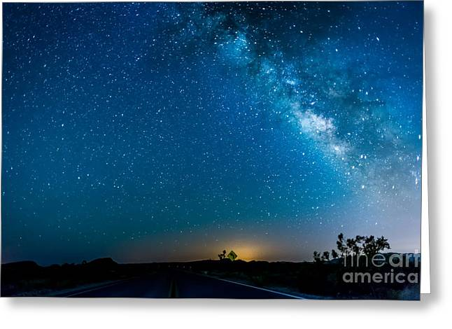 Star Greeting Cards - Park Blvd and Milky Way  Greeting Card by Art K