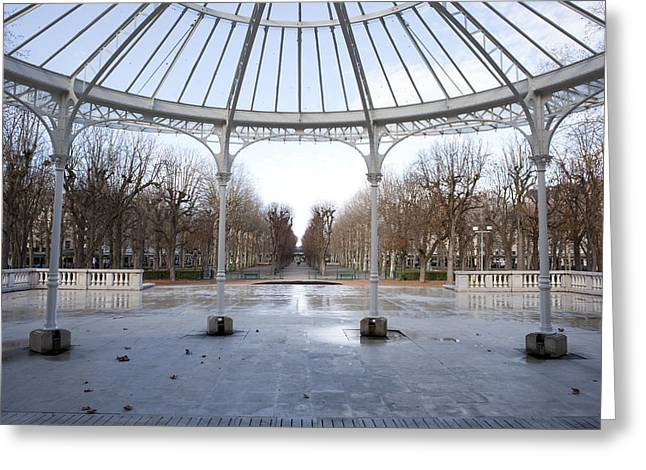 Vichy Greeting Cards - Park by the opera Greeting Card by Alexander Davydov