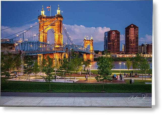 Park Under The Bridge Greeting Card by Andrew Johnson